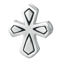 Sterling Silver Jewelry - 925  STERLING SILVER DOUBLE SIDE CELTIC CROSS BEADS CHARMS BRACELETS FIT ALL BRANDS alternate image 2.