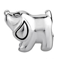 Sterling Silver Jewelry - 925  STERLING SILVER PUPPY DOG ANIMAL EURO JEWELRY GIFT FITS BEADS CHARMS BRACELETS FIT ALL BRANDS alternate image 2.