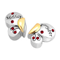European Beads - MOTHER DAUGHTER CHARMS 925 STERLING SILVER BUTTERFLY BEADS alternate image 2.