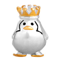 Sterling Silver Jewelry - STERLING SILVER FINE PENGUIN KING FITS BEADS CHARMS BRACELETS FIT ALL BRANDS alternate image 2.