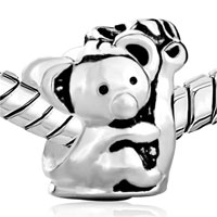 Sterling Silver Jewelry - 925 STERLING SILVER KOALA HOLDING CHRISTMAS TREE BEADS FITSCHARM BRACELET alternate image 1.