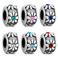 Charms Beads - SILVER GARNET RED SWAROVSKI CRYSTAL FLOWER CHARMS BRACELETS JEWELRY alternate image 4.