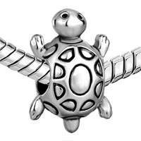 Charms Beads - SILVER LONGEVITY TURTLE EUROPEAN INFANT CHARM BEAD CHARMS BRACELETS alternate image 1.