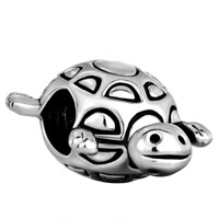 Charms Beads - SILVER LONGEVITY TURTLE EUROPEAN INFANT CHARM BEAD CHARMS BRACELETS alternate image 2.