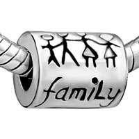 DPC_AM02: HAPPY FAMILY SILVER PLATED BEADS CHARMS BRACELETS alternate image 1.