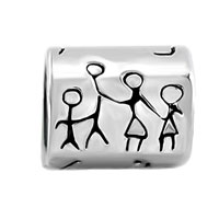 Charms Beads - SILVER PLATED FAMILY LIFE EUROPEAN INFANT CHARM BEAD CHARM BRACELETS alternate image 2.