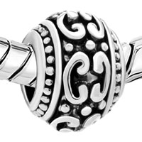 Charms Beads - SILVER PLATED VICTORIAN PATTERN EUROPEAN BEAD CHARMS BRACELETS alternate image 1.