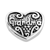 Charms Beads - HEART CHARM BRACELET LOVE GRANDMA CHARM BEADBEADS & CHARM BRACELETS alternate image 2.