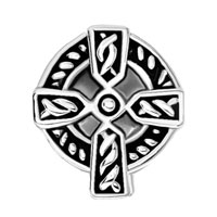 DPC_AM08: SILVER CELTIC CLADDAGH IRISH CROSS BRACELET CHARM CHARM BRACELET alternate image 2.