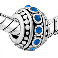 Charms Beads - DEEP BLUE CRYSTAL BEADS CHARMS BRACELETS BEADS CHARMS BRACELETS alternate image 1.