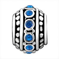 Charms Beads - DEEP BLUE CRYSTAL BEADS CHARMS BRACELETS BEADS CHARMS BRACELETS alternate image 2.