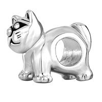 Charms Beads - SILVER CUTE CAT ANIMAL CHARMS FOR BRACELETS EUROPEAN BEAD BRACELET alternate image 2.