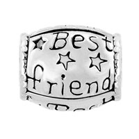 Charms Beads - SILVER PLATED MOTHERS DAY GIFTS BEST FRIEND BEADS CHARM BRACELETS alternate image 2.