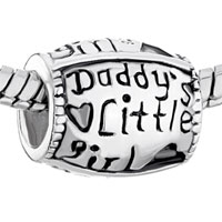 Sterling Silver Jewelry - PUGSTER?  STERLING SILVER WORDS DADDY' S LITTLE GIRL FOR BEADS CHARMS BRACELETS FIT ALL BRANDS alternate image 1.