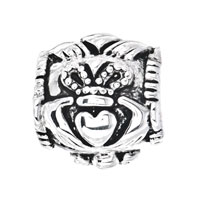 Sterling Silver Jewelry - PUGSTER?  STERLING SILVER IRISH CLADDAGH FITS BEADS CHARMS BRACELETS FIT ALL BRANDS alternate image 2.
