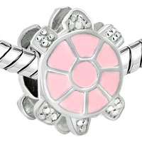Charms Beads - LITTLE CUTE LIGHT PINK TORTOISE EUROPEAN BEAD CHARMS BRACELETS alternate image 1.