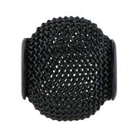 Charms Beads - SILVER PLATED BLACK CROCHET CHARM BRACELET SPACER EUROPEAN BEAD alternate image 2.