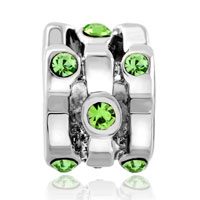 Charms Beads - SILVER PLATED SWAROVSKI CRYSTAL EUROPEAN BEAD CHARMS BRACELETS alternate image 2.