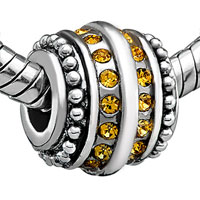 Charms Beads - TOPAZ YELLOW BLING SWAROVSKI VICTORIAN CHARM BEAD CHARM JEWELRY alternate image 1.