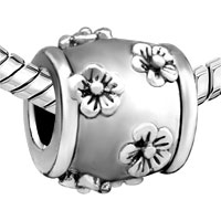 Charms Beads - SILVER PLATED MANY FLORAL EUROPEAN BEAD CHARMS CHARMS BRACELETSS alternate image 1.