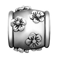 Charms Beads - SILVER PLATED MANY FLORAL EUROPEAN BEAD CHARMS CHARMS BRACELETSS alternate image 2.