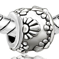 Charms Beads - SILVER PLATED SUN FLORAL EUROPEAN BEAD CHARMS CHARMS BRACELETS alternate image 1.