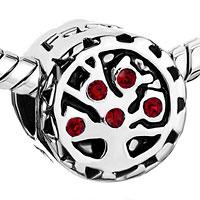 Charms Beads - GARNET RED CRYSTAL FAMILY TREE OF LIFE BEAD DESIGNER CHARM BRACELETS alternate image 1.