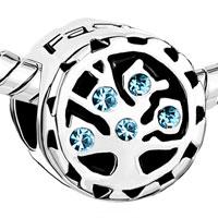 Charms Beads - AQUAMARINE BLUE CRYSTAL FAMILY TREE OF LIFE BEAD CHARM BRACELETS alternate image 1.