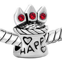 Charms Beads - RED SWAROVSKI CRYSTAL HAPPY BIRTHDAY CAKE BEADS CHARMS BRACELETS alternate image 1.