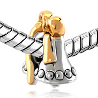 Charms Beads - SILVER PLATED BELL GOLD BOW HOLIDAY EUROPEAN BEAD CHARMS BRACELETS alternate image 1.