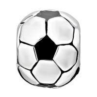 Charms Beads - SILVER FOOTBALL CLASSIC EUROPEAN INFANT CHARM BEAD CHARMS BRACELETS alternate image 2.