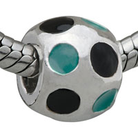 Charms Beads - BALL GREEN ROUND FIT ALL BRANDS BEADS CHARMS BRACELETS alternate image 1.