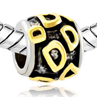 Charms Beads - GOLDEN LETTER INITIAL D CLASSIC ALPHABET FIT TWO TONE PLATED BEADS CHARMS BRACELETS ALL BRANDS alternate image 1.