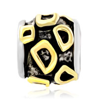 Charms Beads - GOLDEN LETTER INITIAL D CLASSIC ALPHABET FIT TWO TONE PLATED BEADS CHARMS BRACELETS ALL BRANDS alternate image 2.