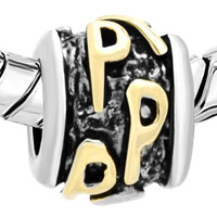 Charms Beads - GOLDEN LETTER BRACELET CHARMS INITIAL P CLASSIC ALPHABET BEADS alternate image 1.