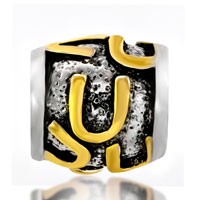 Charms Beads - GOLDEN LETTER BRACELET CHARMS INITIAL U CLASSIC ALPHABET BEADS alternate image 2.