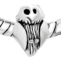 European Beads - OWL SHAPE SILVER PLATED BEADS CHARMS BRACELETS alternate image 1.