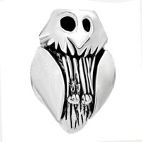 European Beads - OWL SHAPE SILVER PLATED BEADS CHARMS BRACELETS alternate image 2.
