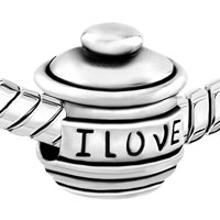 European Beads - LOVE YOU HUNNY POT FIT ALL BRANDS SILVER PLATED BEADS CHARMS BRACELETS alternate image 1.