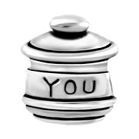 European Beads - LOVE YOU HUNNY POT FIT ALL BRANDS SILVER PLATED BEADS CHARMS BRACELETS alternate image 2.