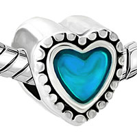 Charms Beads - BLUE HEART CHARM BRACELET EUROPEAN BEAD FIT ALL BRANDS BRACELETS alternate image 1.