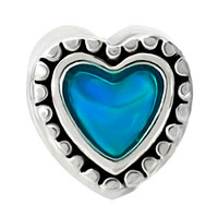 Charms Beads - BLUE HEART CHARM BRACELET EUROPEAN BEAD FIT ALL BRANDS BRACELETS alternate image 2.