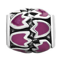 Charms Beads - PINK FLORAL EUROPEAN BEAD CHARMS CHARMS BRACELETSS ENAMEL PATTERN alternate image 2.