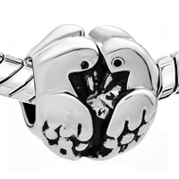 Charms Beads - SILVER TWO TURTLE DOVES EUROPEAN INFANT CHARM BEAD CHARMS BRACELETS alternate image 1.