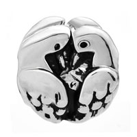 European Beads - TWO TURTLE DOVES SILVER PLATED BEADS CHARMS BRACELETS alternate image 1.