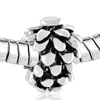 Charms Beads - SILVER MOTHERS DAY S SNOWY PINECONE EUROPEAN BEAD CHARMS BRACELETS alternate image 1.