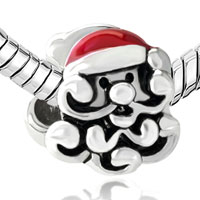 Charms Beads - SILVER SANTA EUROPEAN BEAD CHARM BRACELETS FIT ALL BRANDS BRACELETS alternate image 1.