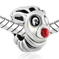 European Beads - RED NOSE DEER SILVER PLATED BEADS CHARMS BRACELETS alternate image 1.