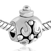 Charms Beads - SILVER PLATED FLAGON PATTERN HALLOWMAS EUROPEAN BEAD CHARM BRACELETS alternate image 1.