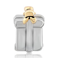 Charms Beads - SILVER GOLD BOWKNOT BOX EUROPEAN INFANT CHARM BEAD CHARMS BRACELETS alternate image 2.